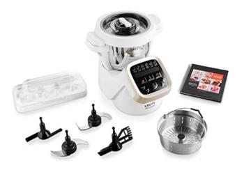 Ausstattung und Zubehör der Krups HP5031 Prep & Cook Küchenmaschine mit Kochfunktion
