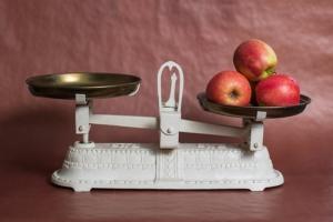 Funktionsweise einer Küchenmaschine mit Waage