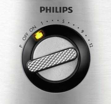 Philips HR7778/00 Küchenmaschine (30 Funktionen, Entsafter, 1300 Watt) schwarz/silber -