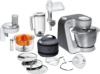 Bosch MUM56340 Küchenmaschine Styline MUM5 (900 Watt, Edelstahl-Rührschüssel, Durchlaufschnitzler, Rühr-Schlagbesen und weiteres Zubehör) silber -